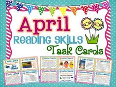 April Reading Skills and Enrichment Task Cards *Aligned to Common Core* - A set of 56 Reading Skills and Enrichment Task Cards that are aligned to common core standards for grades 3-5$