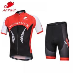 MT C Man Summer Cycling Jersey Sets Black Red Breathable Quick Drying Short  Sleeve Mens Pro Team 6a98e49ae