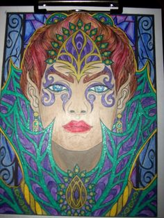Fey Enchantress From Magical Beauties By Cristina McAllister Done With Prismacolor Pencils And Assorted Gel Pens