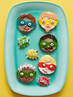 Let+Dad+or+Grandpa+know+you+think+he's+incredible+with+a+personalized+superhero+cookie. ++++++++++++++++Originally+published+in+the+June/July+2014+issue+of+FamilyFun+magazine.