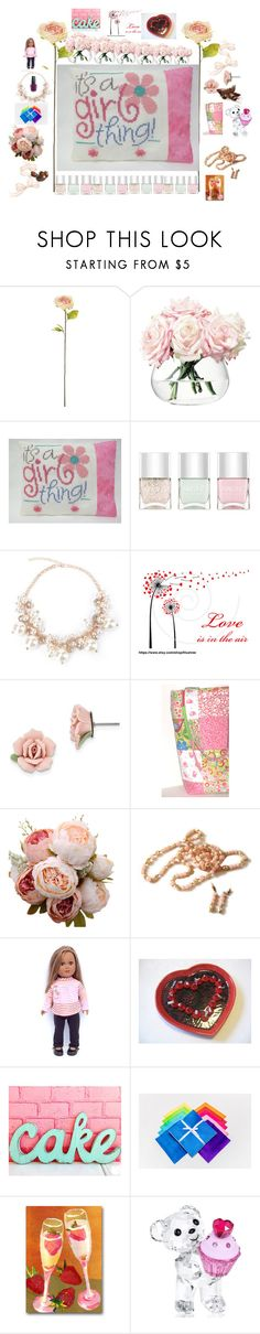 """""""It's a Girl Thing"""" by michaelangelas ❤ liked on Polyvore featuring Shabby Chic, LSA International, Nails Inc., 1928, Swarovski and OPI"""