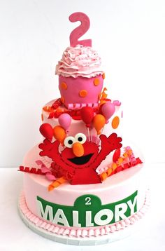 @tashiajones......wish you still Made cakes!!! Elmo Birthday Cake ~ so cute!