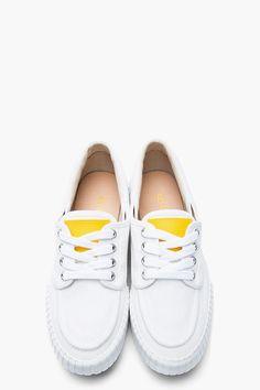 KENZO White Canvas Helios Sneakers