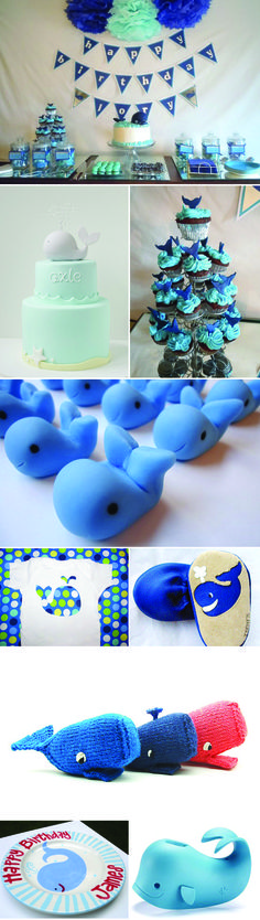 Whale squirters - super cute and fun! We can recreate this theme for you! http://www.creativeambianceevents.com/