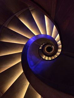 Nebotičnik, Ljubljana, Slovenia - Circular stairs leading down from the roof-top bar... #staircase