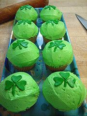St. Patty's Day Lime Curd Cupcakes