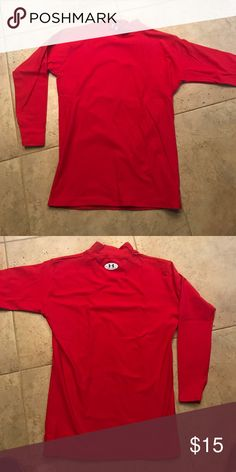Men's Under Armour long john long sleeve shirt Red long johns- fits a size smaller Under Armour Shirts Tees - Long Sleeve