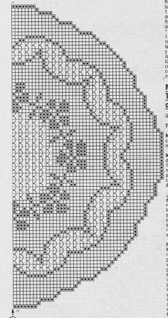 This Pin was discovered by Seb Crochet Stitches Chart, Crochet Mat, Filet Crochet Charts, Crochet Doily Patterns, Crochet Doilies, Fillet Crochet, Crochet Tablecloth, Crochet Purses, Cross Stitch Embroidery