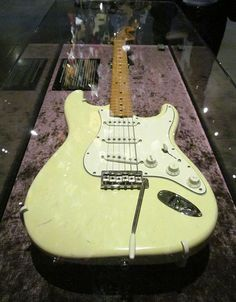 """Jimi Hendrix's 1968 Fender """"Woodstock"""" Stratocaster One of the most iconic guitars of all time, Jimi Hendrix purchased this white 1968 Fender Stratocaster serial number 240981 from Manny's Music in New York City."""