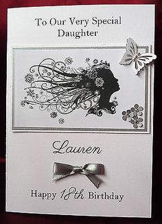 Personalised #handmade a5 #birthday card daughter mum 16th 18th 21st 40th #(1540),  View more on the LINK: http://www.zeppy.io/product/gb/2/180986088582/