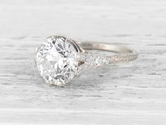 3.56 CARAT EDWARDIAN DIAMOND ENGAGEMENT RING