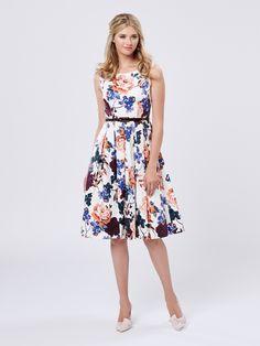 Lydia Bloom Prom Dress | Cream & Multi | Prom Dresses