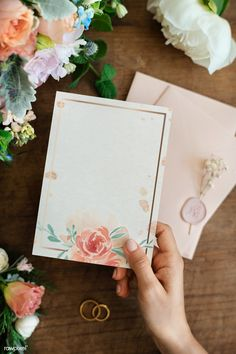 Flower Background Wallpaper, Theme Background, Polka Dot Background, Flower Backgrounds, Hand Holding Card, Wedding Cards, Wedding Invitations, Invitation Mockup, Personalized Greeting Cards