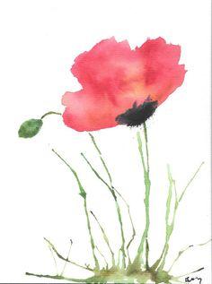Painting Poppies. Red Poppy. Flower. Original Art.