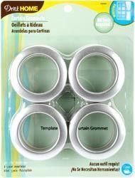 Curtain Grommets 1-9/16in Inner Diameter Brushed Silver