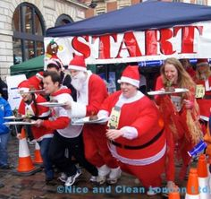 The challenge of the fabulous Christmas Pudding Race
