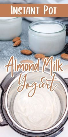 Making Yogurt with almond milk is possible and it's an amazing way to replace the dairy product. Since Plant-base yogurt can be quite expensive at the grocery store, I searched for a cheaper alternative, and here it is :]Here you can make your own yogurt , using this easy and quick recipe. To be honest it's much better than the one you can purchase! Best Pressure Cooker Recipes, Instant Pot Pressure Cooker, Pressure Cooking, Make Your Own Yogurt, Making Yogurt, Almond Milk Yogurt, Yogurt Bar, Instapot Yogurt, Instant Pot Yogurt Recipe