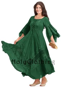 Forest Green Belladonna Peasant Bustier Empire Waist Gypsy Boho Corset Dress - Green - Shop by Color - Dresses