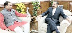 Maharashtra Minister for Tourism Jaykumar Rawal calling on Union Minister Dr Jitendra Singh at New Delhi.