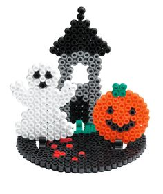Halloween Hama beads - My Pocket Hama Hama Beads Coasters, Diy Perler Beads, Perler Bead Art, Pearler Beads, Fuse Beads, Hama Coaster, Melty Bead Patterns, Pearler Bead Patterns, Perler Patterns