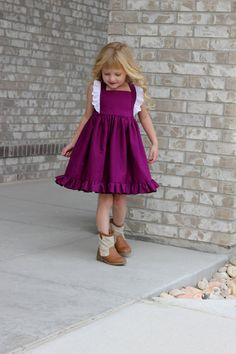 Girls Special Occasion Dress - Country Flower Girl Dress - Toddler Birthday dress - Little Girls Ruffle Dress - Baby Girls Party Dress  Have a