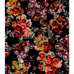 Abstract Digital Floral