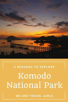 5 REASONS TO EXPLORE KOMODO NATIONAL PARK - If you ever have the chance to visit wonderful Indonesia, make sure you head to Komodo National Park. This UNESCO World Heritage site is lies east of Bali and features komodo dragons, legendary scuba diving, and killer hiking views. By Jill Naprstek for http://WeAreTravelGirls.com