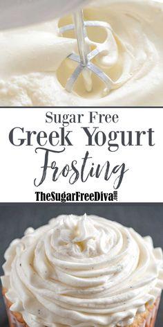 Weight Watchers Desserts, Sugar Free Desserts, Sugar Free Recipes, Köstliche Desserts, Low Carb Desserts, Ww Recipes, Dessert Recipes, Dessert Bread, Sugar Free Frosting