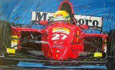 ____***** Ilustração de Senna correndo pela equipe de F1 Ferrari