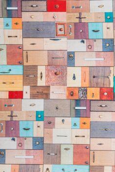 #Tissu #ameublement #coton impression numérique tiroirs