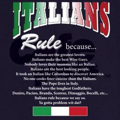 Italians Rules Apron (dark)