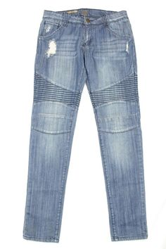 Chelsea & Violet Women's Jeans Skinny Boot Cut Moto Cross Zip Pockets Size 29 #ChelseaViolet #BootCutSlimSkinny