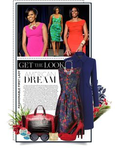 """""""Michelle Obama - American Dream"""" by e-daniels ❤ liked on Polyvore"""