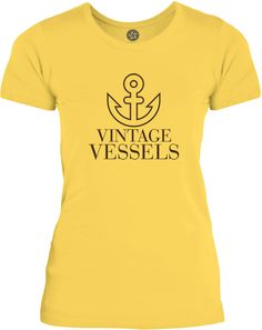 Big Texas Vintage Vessels Anchor (Brown) Womens Fine Jersey T-Shirt