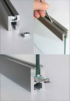 Aluminum led channel for glass klus ex alu series Indirect Lighting, Strip Lighting, Home Lighting, Lighting Design, Plexiglas Led, Channel Glass, Blitz Design, Deco Led, Led Stripes