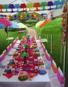 kids party ideas | Kids Luau Party Ideas From PurpleTrail - Tropical Birthday