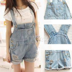 denim jumper shorts for girls