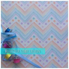 "https://flic.kr/p/uk9h4F | Watercolor Flower Chevron . | <a href=""http://www.spoonflower.com/fabric/4076357"" rel=""nofollow"">www.spoonflower.com/fabric/4076357</a>"