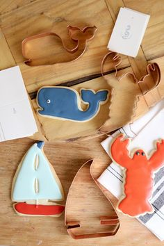 Copper Cookie Cutters - Summer Nautical - Everyday Occasions   $12.50 each