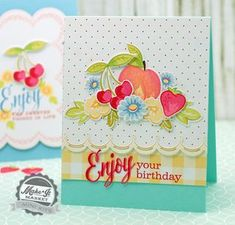 Enjoy Your Birthday Card by Betsy Veldman for Papertrey Ink (June 2015)