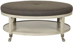 Vanguard Furniture: W158C-OT - Lorenzo (Ottoman) You can add customized leather top by Cisco Brothers