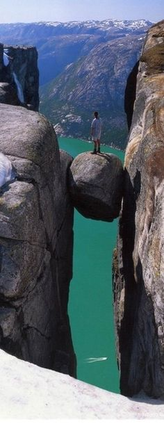 Kjeragbolten ~ in the Kjerag Mountains, Rogaland, Norway