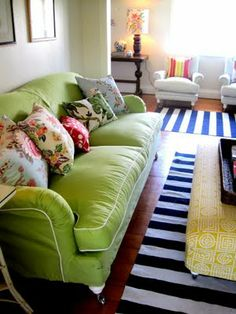 Color is not just for kids!  I crave color and finally am using so many more colors in my home. Why did it take me so long?  Anna Spiro work