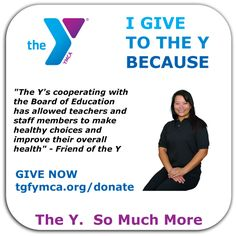 #TGFYMCA I give to the Y Because