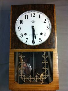 Wall Clock アンティーク柱時計昭和初期佐藤時計完動品SATOCLOCK Watch Antique ¥35000yen 〆11月01日