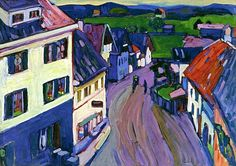 Murnau, view of Griesbrau's window, 1908 / Kandinsky