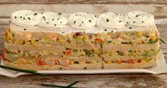 Pastel salado fácil con pan de molde Empanadas, Canapes, Tapas, Macaroni And Cheese, Sushi, Buffet, Sandwiches, Brunch, Food And Drink