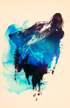 """Trademark Art """"Alone As A Wolf"""" by Robert Farkas Graphic Art on Wrapped Canvas Size: Wolf Canvas, Canvas Art, Canvas Size, Wolf Poster, Wolf Tattoo Design, Tattoo Designs, Art Watercolor, Wolf Tattoos, Quote Tattoos"""