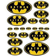 INSTANT DOWNLOAD Batman  5 sizes   for Balloon Stickers by Inulja, $2.50