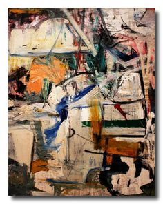 alongtimealone: Metropolitan Museum #30 William de Kooning - Easter Monday 1955-6 (by David Lewis-Baker)